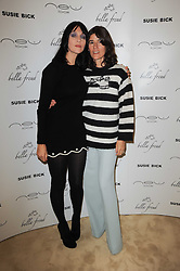 Left to right, SUSIE BICK and BELLA FREUD at a screening of a short film directed by Willem Jaspert and Stephen Langmanis to celebrate the launch of Bella Freud and Susie Bick's first design collaboration held at Town Hall, 8 Patriot Square, London E2 on 6th September 2010.