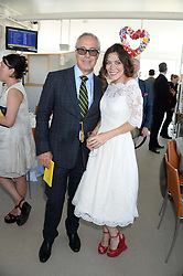 ANNA FRIEL and JON ZAMMETT at the 3rd day of the 2013 Glorious Goodwood racing festival - Ladies day at Goodwood Racecourse, West Sussex on 1st August 2013.