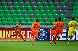 Tonny Trindade de Vilhena of Netherland and other players celebrate after winning the UEFA European Under-17 Championship Final match between Germany and Netherlands on May 16, 2012 in SRC Stozice, Ljubljana, Slovenia. Netherlands defeated Germany after penalty shots and became European Under-17 Champion 2012. (Photo by Vid Ponikvar / Sportida.com)