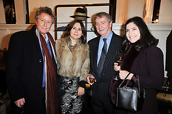 Left to right, DAVID JENKINS, ALEXANDRA SHULMAN, STEPHEN QUINN and his wife KIMBERLEY at a party to celebrate the publication of Dogs in Vogue by Judith Watt held at James Purdey & Sons, Audley House, 57-58 South Audley Street, London W1 on 3rd December 2009.