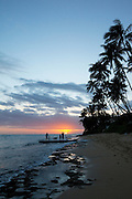 Sunset, Diamond Head Beach, Oahu, HawaiiKauai, Hawaii