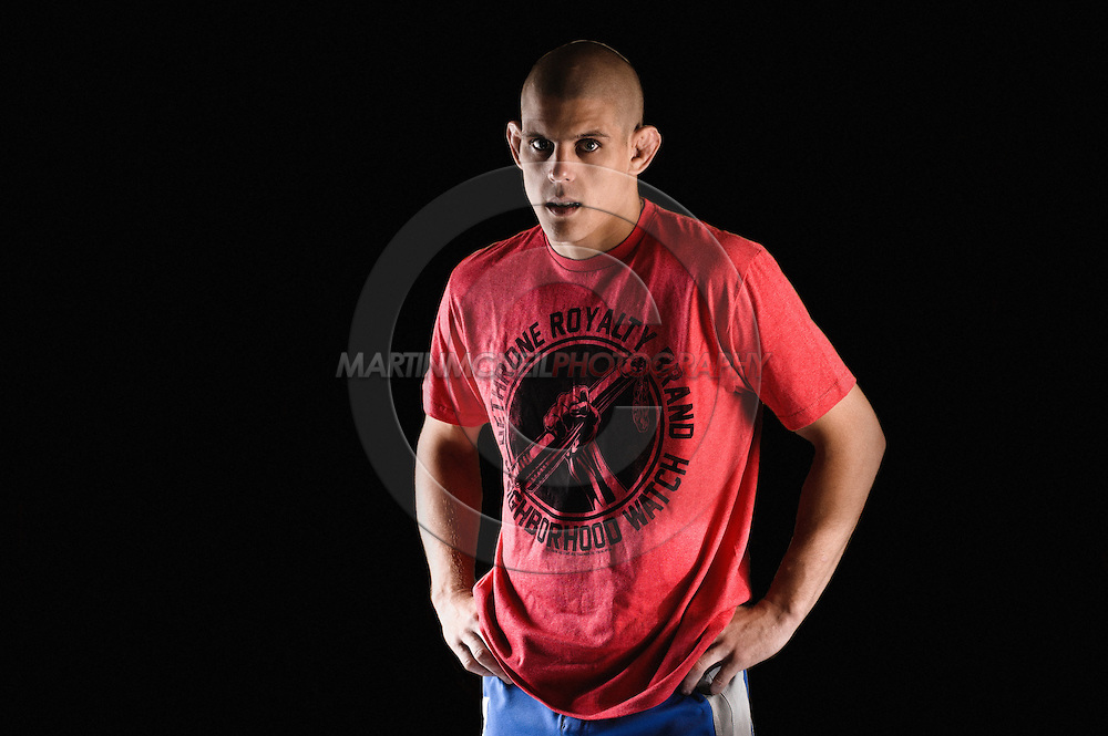 A portrait of mixed martial arts athlete Joe Lauzon