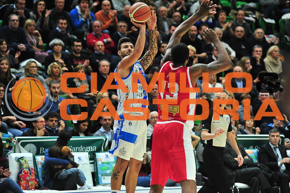 DESCRIZIONE : Campionato 2014/15 Dinamo Banco di Sardegna Sassari - Victoria Libertas Consultinvest Pesaro<br /> GIOCATORE : Brian Sacchetti<br /> CATEGORIA : Tiro Tre Punti<br /> SQUADRA : Dinamo Banco di Sardegna Sassari<br /> EVENTO : LegaBasket Serie A Beko 2014/2015<br /> GARA : Dinamo Banco di Sardegna Sassari - Victoria Libertas Consultinvest Pesaro<br /> DATA : 17/11/2014<br /> SPORT : Pallacanestro <br /> AUTORE : Agenzia Ciamillo-Castoria / M.Turrini<br /> Galleria : LegaBasket Serie A Beko 2014/2015<br /> Fotonotizia : Campionato 2014/15 Dinamo Banco di Sardegna Sassari - Victoria Libertas Consultinvest Pesaro<br /> Predefinita :