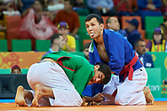 Ashgabat, Turkmenistan - 2017 September 21:<br /> while Kurash competition during 2017 Ashgabat 5th Asian Indoor & Martial Arts Games at Martial Arts Arena (MAA) at Ashgabat Olympic Complex on September 21, 2017 in Ashgabat, Turkmenistan.<br /> <br /> Photo by © Adam Nurkiewicz / Laurel Photo Services