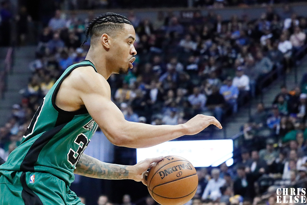 10 March 2017: Boston Celtics forward Gerald Green (30) drives during the Denver Nuggets 119-99 victory over the Boston Celtics, at the Pepsi Center, Denver, Colorado, USA.