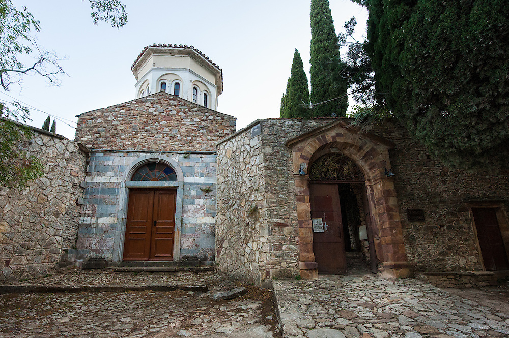 Nea Moni  is a monastery on the island of Chios, a  UNESCO World Heritage Site. It was built in the 11th century by Byzantine emperor Constantine IX Monomachos and his wife, Empress Zoe. The Katholikon (main church ) is dedicated to the Dormition of the Virgin Mary.