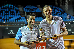 February 23, 2019 - Rio De Janeiro, Brazil - RIO DE JANEIRO, RJ - 23.02.2019: RIO OPEN 2019 - Maximo Gonzalez (ARG) and Nicolas Jarry (CHI) champions of the doubles tournament during the Rio Open 2019 (ATP 500) held at the Jockey Club Brasileiro in Rio de Janeiro, RJ, on Saturday (23) (Credit Image: © Nayra Halm/Fotoarena via ZUMA Press)