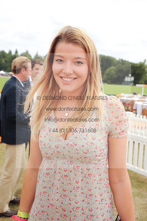 EMERALD FRASER at the Veuve Clicquot Gold Cup polo final held at Cowdray Park, Midhurst, West Sussex on 18th July 2010.