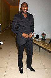 Footballer SOL CAMPBELL at a Burns Night supper in aid of Clic Sargent & Children's Hospital Association Scotland hosted by Ewan McGregor, Sharleen Spieri and Lady Helen Taylor at St.Martin's Lane Hotel, 45 St Martin's Lane, London on 25th January 2006.<br /><br />NON EXCLUSIVE - WORLD RIGHTS