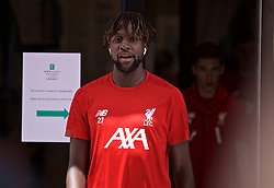 SOUTH BEND, INDIANA, USA - Wednesday, July 17, 2019: Liverpool's Divock Origi leaves the team hotel as the squad head for a second training session on day two of the club's pre-season tour of America. (Pic by David Rawcliffe/Propaganda)