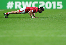 DTH van der merwe of Canada does some press ups  - Mandatory byline: Joe Meredith/JMP - 07966386802 - 01/10/2015 - Rugby Union, World Cup - Stadium:MK -Milton Keynes,England - France v Canada - Rugby World Cup 2015