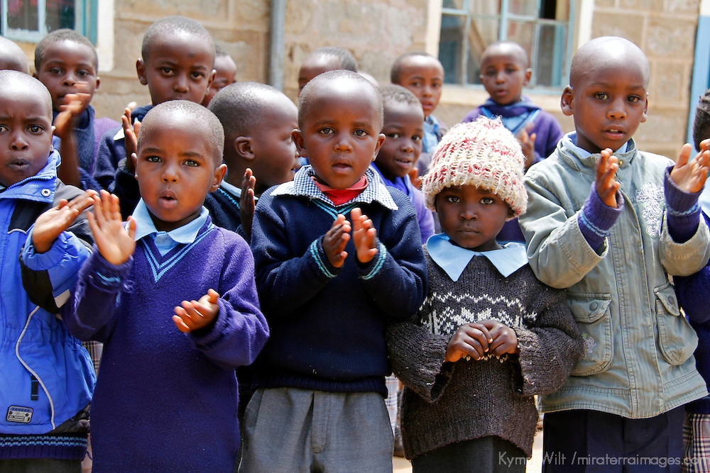 Africa, Kenya, Nanyuki. School children of the Nanyuki Children's Home.
