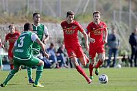 *Karim Haggui* of FC St Gallen, *Guus Til* of AZ Alkmaar,