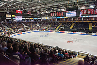KELOWNA, BC - OCTOBER 26: Fans during ladies long program of Skate Canada International held at Prospera Place on October 26, 2019 in Kelowna, Canada. (Photo by Marissa Baecker/Shoot the Breeze)