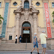 APRIL 20, 2018--MIAMI, FLORIDA<br /> The main entrance to Miami Dade College's Freedom Tower in downtown Miami.<br /> (PHOTO BY ANGELVALENTIN/FREELANCE)