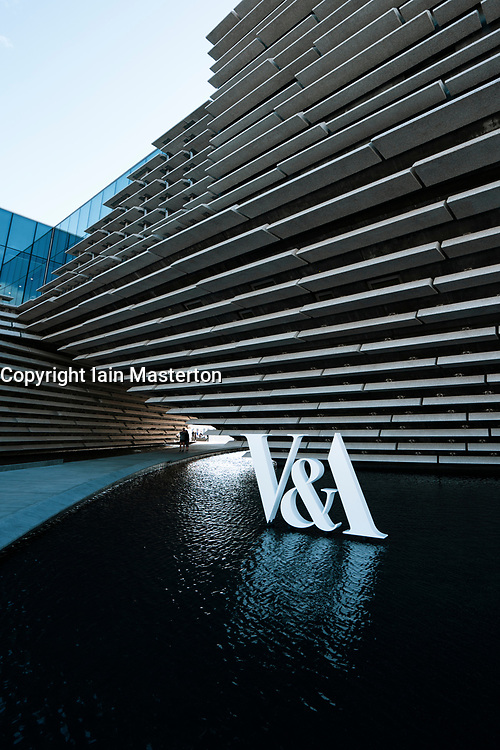 Exterior of the new V&A Museum on first weekend after opening in Dundee , Scotland, UK.