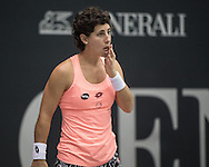 Carla Suarez Navarro (ESP) during the semi finals of the WTA Generali Ladies Linz Open at TipsArena, Linz<br /> Picture by EXPA Pictures/Focus Images Ltd 07814482222<br /> 15/10/2016<br /> *** UK &amp; IRELAND ONLY ***<br /> <br /> EXPA-REI-161015-5009.jpg