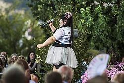 July 31, 2018 - Stockholm, Sweden - Netta Barzilai..AllsÃ¥ng pÃ¥ Skansen, Stockholm, 2018-07-31..(c) BYRMO CAROLINA  / Aftonbladet / IBL BildbyrÃ¥....* * * EXPRESSEN OUT * * *....AFTONBLADET / 85440 (Credit Image: © Byrmo Carolina/Aftonbladet/IBL via ZUMA Wire)