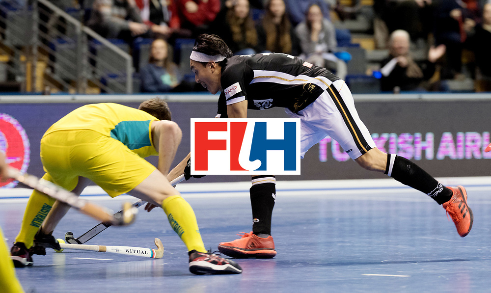 BERLIN - Indoor Hockey World Cup<br /> Men: Germany - Australia<br /> foto: Daniel Nguyen.<br /> WORLDSPORTPICS COPYRIGHT FRANK UIJLENBROEK