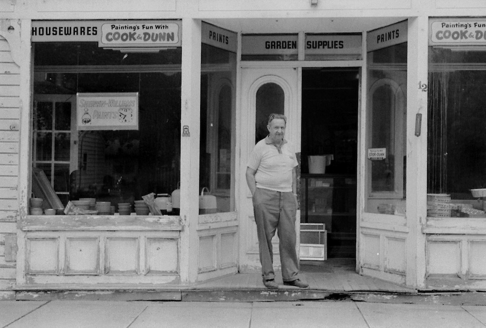 Ralph Brown, hardware store owner