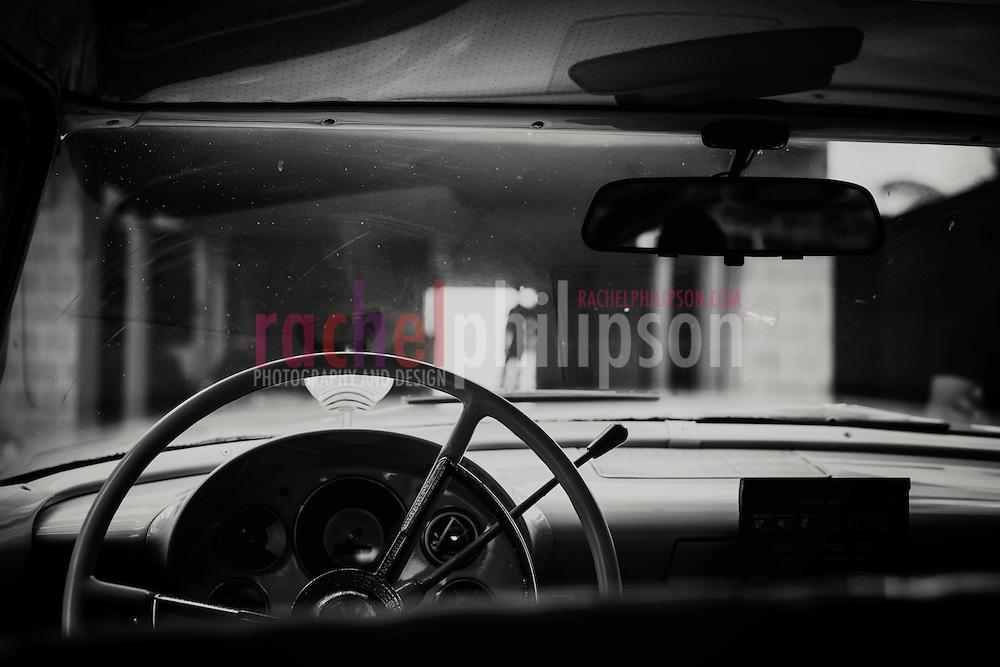cuba, maramar, paladar, inside classic car, thunderbird