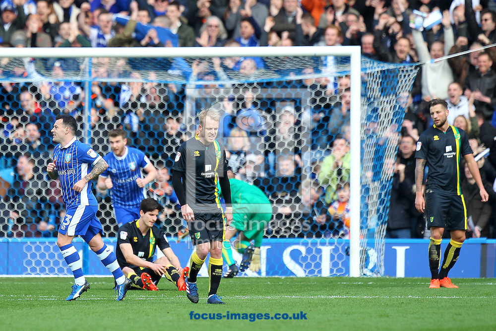 The Norwich players look dejected after their side concedes it&rsquo;s 2nd goall during the Sky Bet Championship match at Hillsborough, Sheffield<br /> Picture by Paul Chesterton/Focus Images Ltd +44 7904 640267<br /> 04/03/2017