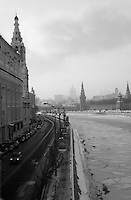 Moscow River Embankment, Winter