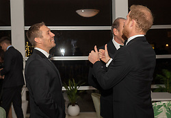 (left to right) Jonny Wilkinson and the Duke of Sussex during a reception in aid of England Rugby's Try For Change programme and the Jonny Wilkinson Foundation at the Kensington Palace Pavilion in London.