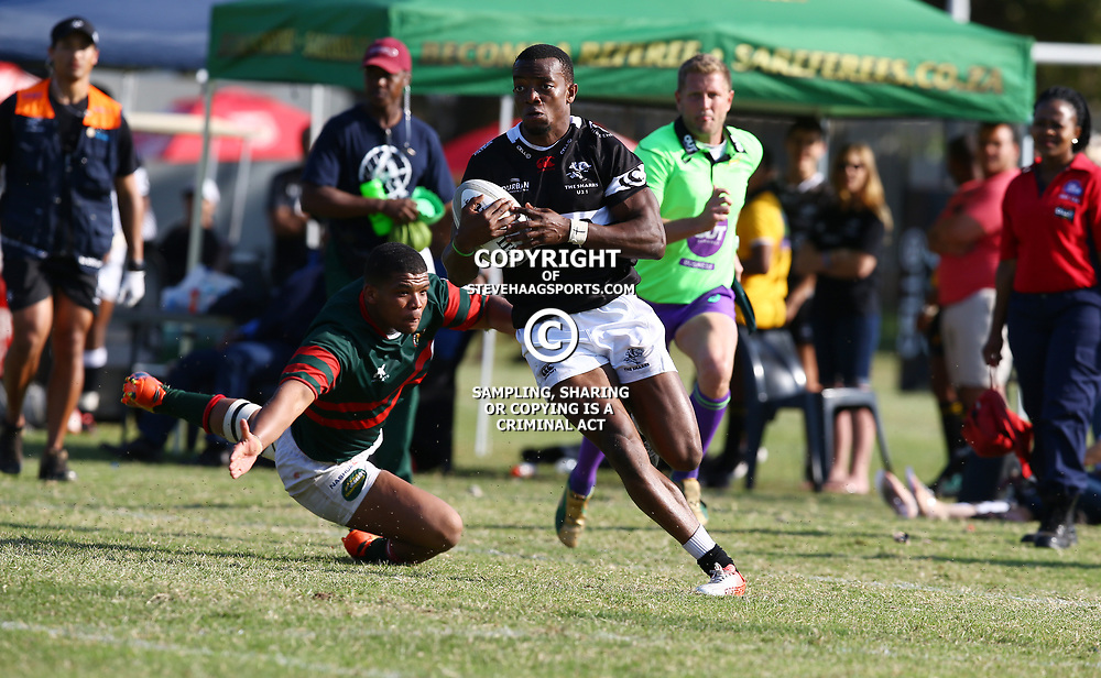 Ilunga Mukend of the Cell C Sharks Under 21's during The Cell C Shark 21's and Leopards  21's Currie Cup at Growthpoint Kings Park KP2 in Durban, South Africa. 8th September  2017 (Photo by ( Steve Haag Sports)