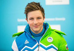 Tit Stante during presentation of Slovenian Young Athletes before departure to EYOF (European Youth Olympic Festival) in Vorarlberg and Liechtenstein, on January 21, 2015 in Bled, Slovenia. Photo by Vid Ponikvar / Sportida