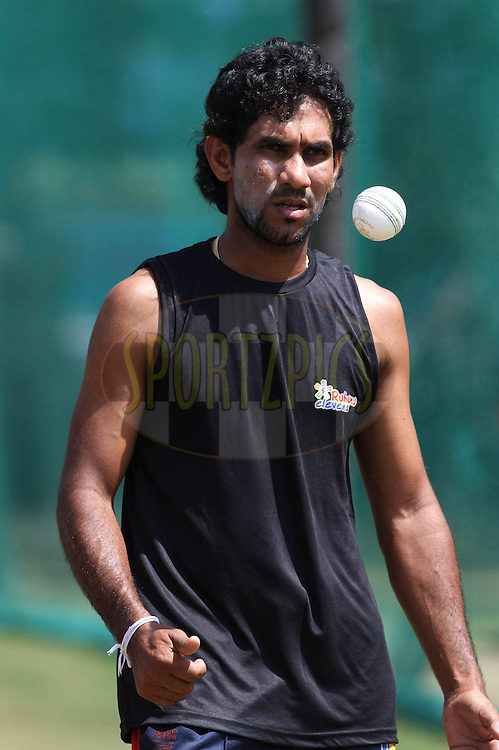 TM Sampath of Ruhunu Eleven during Ruhunu Eleven's training session held at the Rajiv Gandhi Cricket Stadium in Hyderabad, Andhra Pradesh, India on the 17 September 2011...Photo by Shaun Roy/BCCI/SPORTZPICS