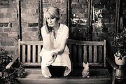 Actress &amp; Comedian Julia Davis poses for photographs at a studio in East London on June 22nd 2012.<br /> <br /> Photographs by  Ki Price for The Guardian Weekend Magazine.Comedian Julia Davis poses for portraits at a location in east London on June 21st 2012.<br /> <br /> Julia Davis new series Hunderby is due to be screened in August on Sky Alantic.