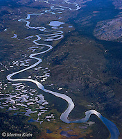 The Yukon's Peel Watershed, as the name implies, is all about water, which is carried by pristine, free flowing rivers. Our expedition team member, Marina Klein, captured beautifully one of these rivers meandering through one of the many river valleys we flew over. The tranquillity of the scene is in sharp contrast to the towering, rugged, endless mountain ranges which surround it.
