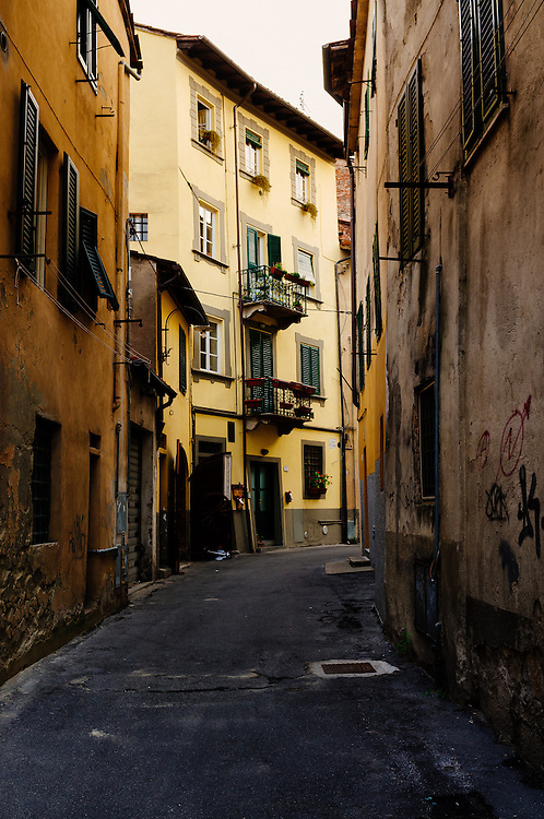 Back streets in Lucca, Italy