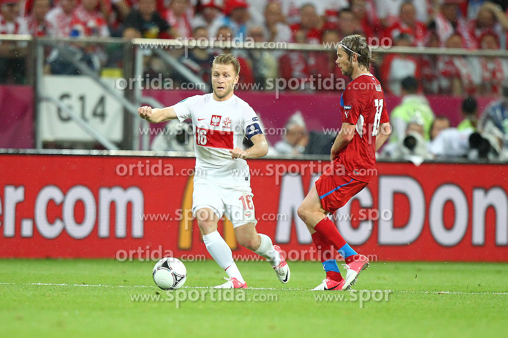 16.06.2012, Staedtisches Stadion, Breslau, POL, UEFA EURO 2012, Tschechien vs Polen, Gruppe A, im Bild JAKUB BLASZCZYKOWSKI, JAROSLAW PLASIL // during the UEFA Euro 2012 Group A Match between Czech Republic and Poland at the Municipal Stadium, Wroclaw, Poland on 2012/06/16. EXPA Pictures © 2012, PhotoCredit: EXPA/ Newspix/ Lukasz Grochala..***** ATTENTION - for AUT, SLO, CRO, SRB, SUI and SWE only *****
