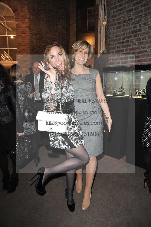 Left to right, sisters TARA PALMER-TOMKINSON and SANTA SEBAG-MONTEFIORE at a party to celebrate the launch of Simon Sebag-Montefiore's new book - 'Jerusalem: The Biography' held at Asprey, 167 New Bond Street, London on 26th January 2011.
