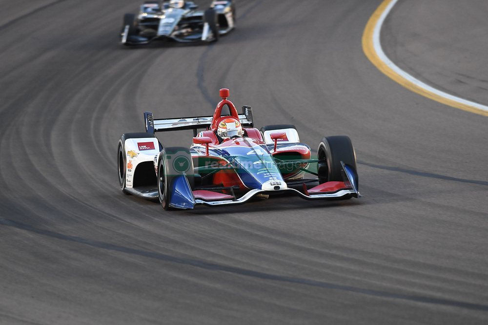 April 6, 2018 - Phoenix, AZ, U.S. - PHOENIX, AZ - APRIL 07: Driver Matheus Leist finished nineteenth (19) in the Verizon IndyCar Series Desert Diamond West Valley Casino Phoenix Grand Prix on April 7, 2018, at ISM Raceway in Phoenix, AZ. (Photo by Grant Exline/Icon Sportswire) (Credit Image: © Grant Exline/Icon SMI via ZUMA Press)