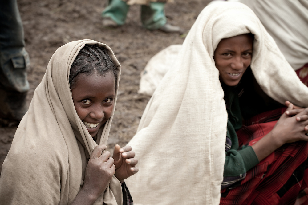 Women on Market day in Mehal Meda on the Guassa Plateau in the Ethiopian Highlands