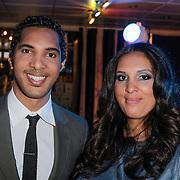 NLD/Rotterdam/20120516 - Verjaardag en boekpresentatie Magali Gorre, Richy Brown en zus