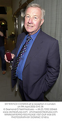 SIR TERENCE CONRAN at a reception in London on 9th April 2002.	OYS 38