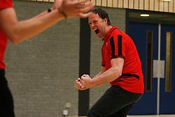 21-04-2012 VOLLEYBAL: B- LEAGUE DAMES VCN KING SOFTWARE - KINDERCENTRUM ALTERNO 2: CAPELLE AAN DEN IJSSEL <br /> Erik Gras in extase na het behalen van het laatste punt, VCN King Software is kampioen van de B-League<br /> ©2012-FotoHoogendoorn.nl / Pim Waslander