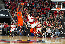 Louisville guard Shaqquan Aaron. <br /> <br /> The University of Louisville hosted the University of Miami, Saturday, Feb. 21, 2015 at The Yum Center in Louisville. Louisville won 55-53.<br /> <br /> Photo by Jonathan Palmer