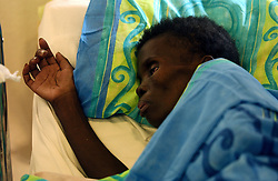 JOHANNESBURG, SOUTH AFRICA - APRIL-28-2004 - Patients with HIV/AIDS are cared for at a hospice center in the Soweto Township of Johannesburg. .(PHOTO © JOCK FISTICK)...