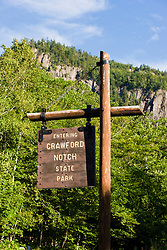 Crawford Notch State Park in new Hampshire's White Mountains.