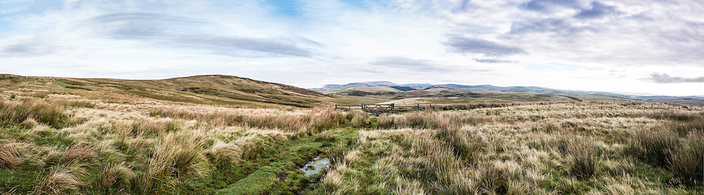 1st October, 2016. Looking across Upper Coquetdale and the Otterburn Redesdale Ranges from the Outer Golden Pot.