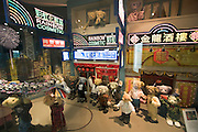"""Jeju Island. Jungmun Tourist Complex. Teddybear Museum. """"Hong Kong 1997 Handover"""" display."""