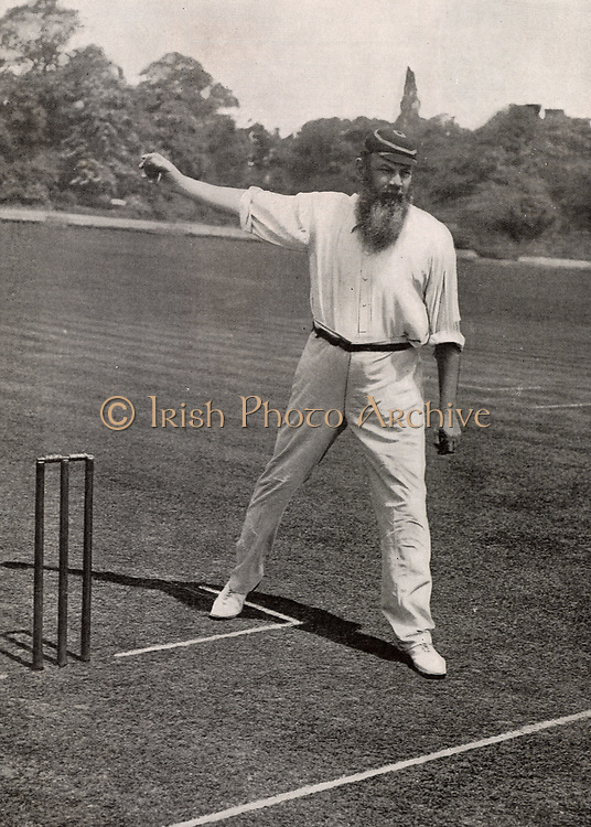 William Gilbert ('W G') Grace (1848-1915) English first-class cricketer and physician, born at Downend near Bristol. His career lasted from 1864-1908.   Halftone from a photograph. From 'The Tatler' (London, August 1901).