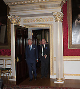 PRINCE CHARLES; DAVID CAMPBELL, Everyman 25th Anniversary party, Spencer House. St. James' Place. London. SW1. 26 October 2016