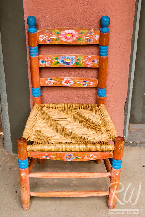 Colorful Chair, Taos Plaza, New Mexico