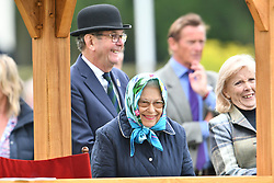© Licensed to London News Pictures. 12/05/2018. Windsor, UK. HRH QUEEN ELIZABETH II at day 4 of the 75th Royal Windsor Horse Show . The five day event takes place in the grounds of Windsor Castle. Photo credit: Ben Cawthra/LNP